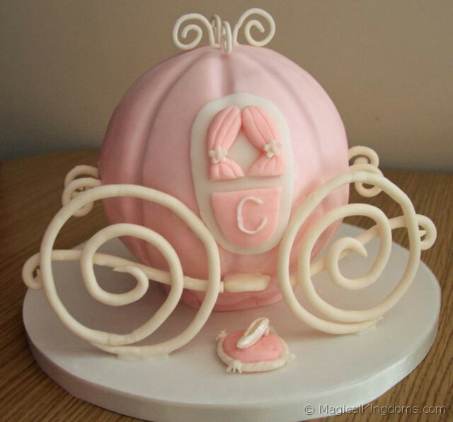 How to Make a Cinderella Coach Birthday Cake Disney Blog at