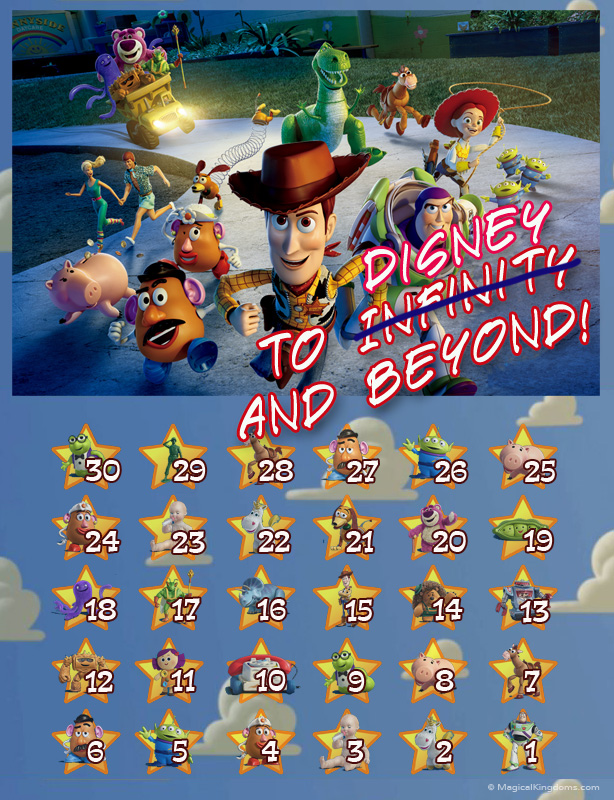 Disney Countdown Calendars - Toy Story