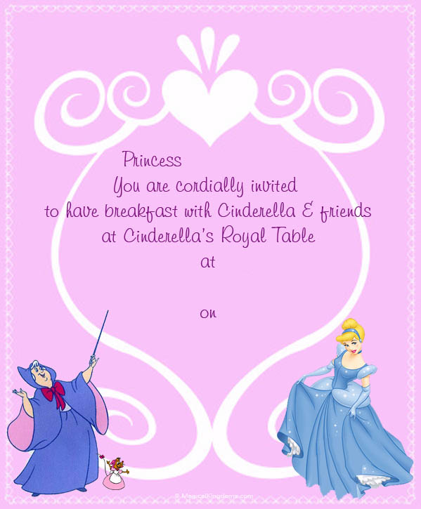 disney printable invitations