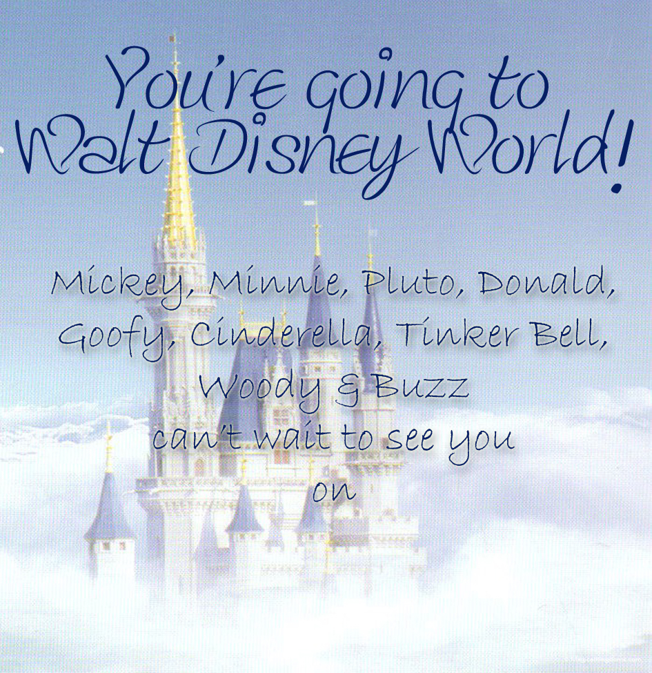 Disney Trip & Event Invitations - You're Going to Walt Disney World