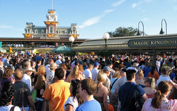 Crowd at Turnstyles - Disney