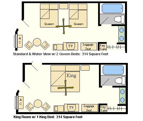 Disney 39 s coronado springs resort Room layout