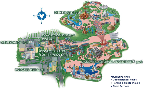 Disneyland California Maps on