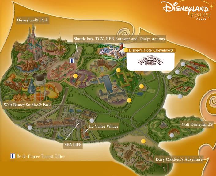 Disneyland Paris Maps - Hotels map in paris