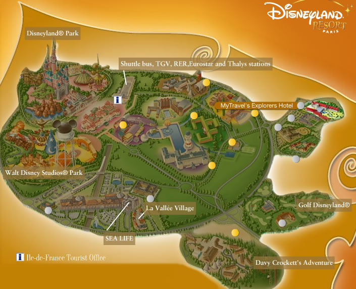 Disneyland Paris maps on